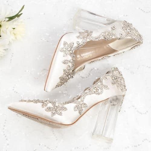 туфли прозрачный каблук