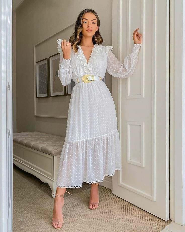Вечернее платье в стиле бохо.