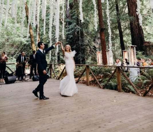 Свадебная площадка на природе