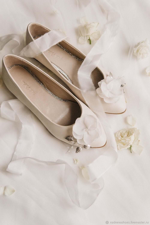 балетки с цветком