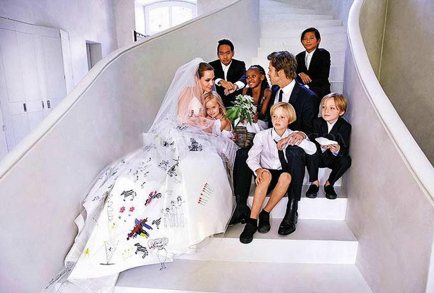 свадьба Джоли