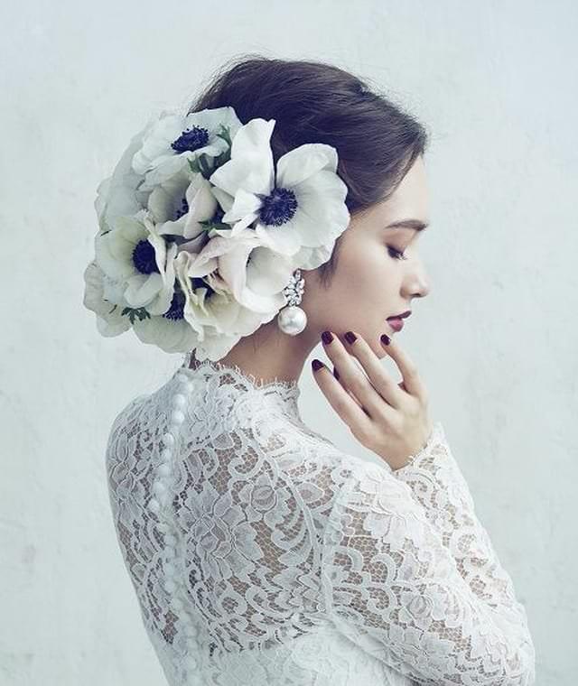 свадебные украшения в прическу